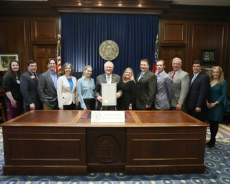 Arbor Day Proclamation with Governor Deal