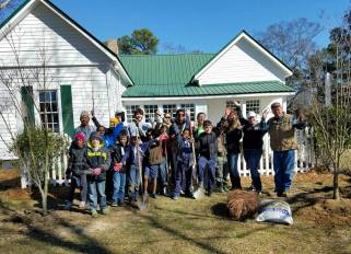 Grayson Arbor Day tree planting