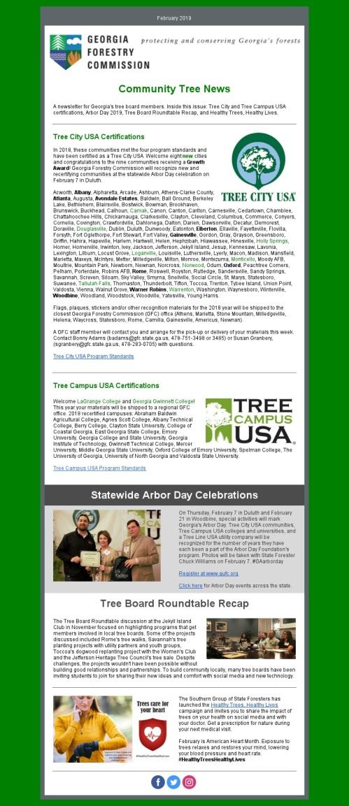 Community Tree News - February 2019