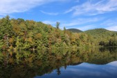 Lake Winfield Scott with Slaughter Mountain Peeking Over the Tree Line - Union County 10-14-19